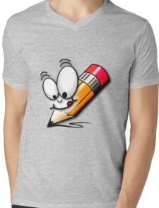 Pencil Guy Mens V-Neck T-Shirt