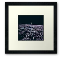 Apollo Archive 0034 Moon Experimental Equipment on Lunar Surface Framed Print