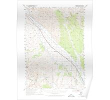 USGS Topo Map Oregon Jamieson 282611 1950 62500 Poster