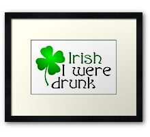 Ireland Beer Drunk Whiskey Framed Print