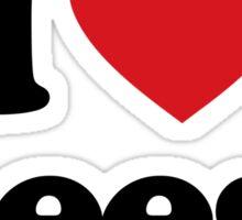I Love Heart Geese Sticker Sticker
