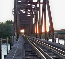 BNSF RR Lift Bridge Prescott Wisconsin  by Diane Trummer Sullivan
