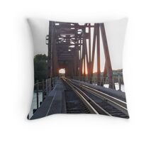 BNSF RR Lift Bridge Prescott Wisconsin  Throw Pillow