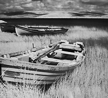 Boat on Lake Carrowmore, Ireland by Dave  Kennedy