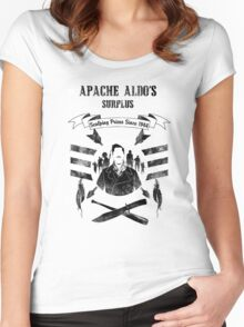 Apache Aldo's Surplus Store- Inglourious Basterds Women's Fitted Scoop T-Shirt