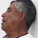 Dreams - siesta in the streets of Vallarta by Bernhard Matejka