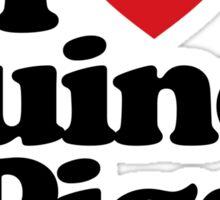 I Love Heart Guinea Pigs Sticker Sticker