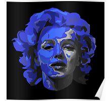 Marilyn Monroe - Blue Poster