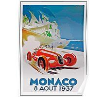 Vintage Monaco Poster - 1937 Poster