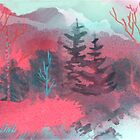 Pink Forest by Joan A Hamilton