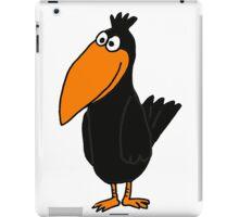 Cute Funky Black Crow Original Art iPad Case/Skin