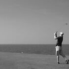 Tee Shot on the Sound by Kent Nickell