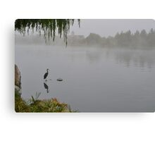 One Foggy Morning at the Lake Canvas Print