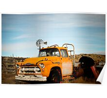 Old Truck and Windmill Poster