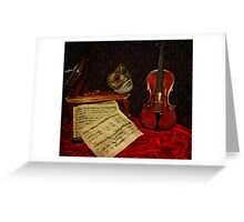 A musical night Greeting Card