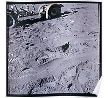 Apollo Archive 0093 Moon Lunar Rover and Footprints on Surface Poster