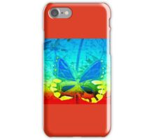 Butterfly in primary colors iPhone Case/Skin