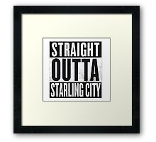 Straight outta Starling City Framed Print