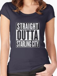 Straight outta Starling City Women's Fitted Scoop T-Shirt