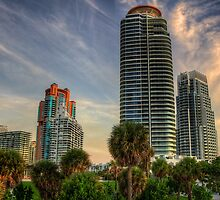 Future Today- the modern towers of South Beach by njordphoto