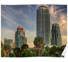 Future Today- the modern towers of South Beach Poster