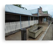 Gulgong sidewalk Canvas Print