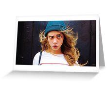 crazy face (Cara Delevingne) Greeting Card
