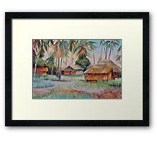 Hut Village in Mambasa Framed Print