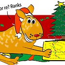 Red Heeler Christmas Card by Diana-Lee Saville