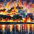 ANCIENT HARBOR - LEONID AFREMOV by Leonid  Afremov