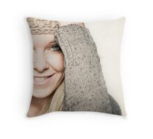 Never, ever regret something that made you smile Throw Pillow