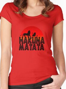 HAKUNA MATATA (day edition) Women's Fitted Scoop T-Shirt