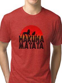 HAKUNA MATATA (day edition) Tri-blend T-Shirt