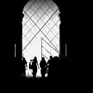 Louvre glimpse by Clare Forder