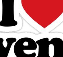 I Love Heart Hyenas Sticker Sticker