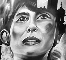 Aung San Suu Kyi by Steve Churchill