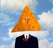Nacho Normal Magritte Painting by SemiPreciousArt