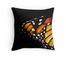 Monarch Butterfly Wing Throw Pillow