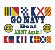 Go Navy, Beat Army - Again Kids Clothes
