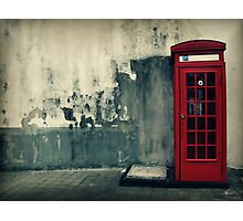 Red Phone Booth Photographic Print