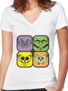Cute, but Not Cuddly Women's Fitted V-Neck T-Shirt