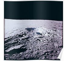 Apollo Archive 0035 Moon Lunar Surface and Horizon Poster