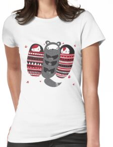 Sleeping-bag Monster Womens Fitted T-Shirt