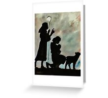 Shepards by night, watercolor Greeting Card