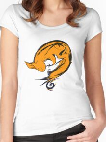 Swirl squirrel Women's Fitted Scoop T-Shirt