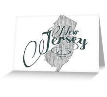 New Jersey State Typography Greeting Card