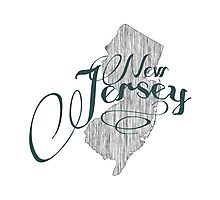 New Jersey State Typography Photographic Print