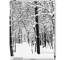Black and White Winter Forest iPad Case/Skin