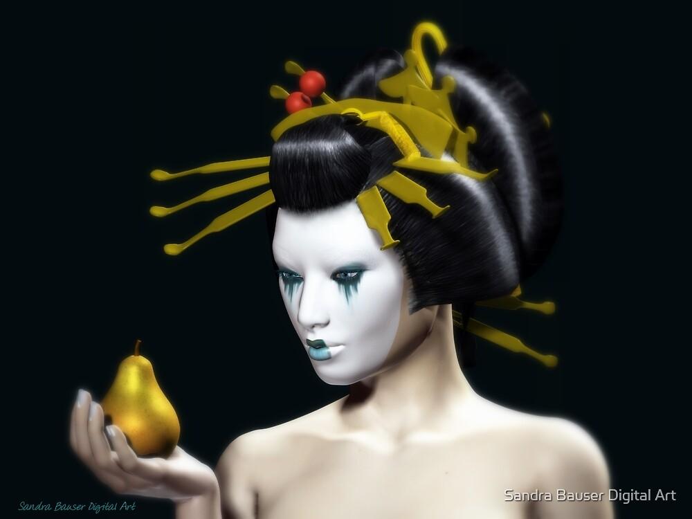 The Golden Pear by Sandra Bauser Digital Art