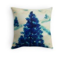 Time to go cut down a tree?  watercolor Throw Pillow